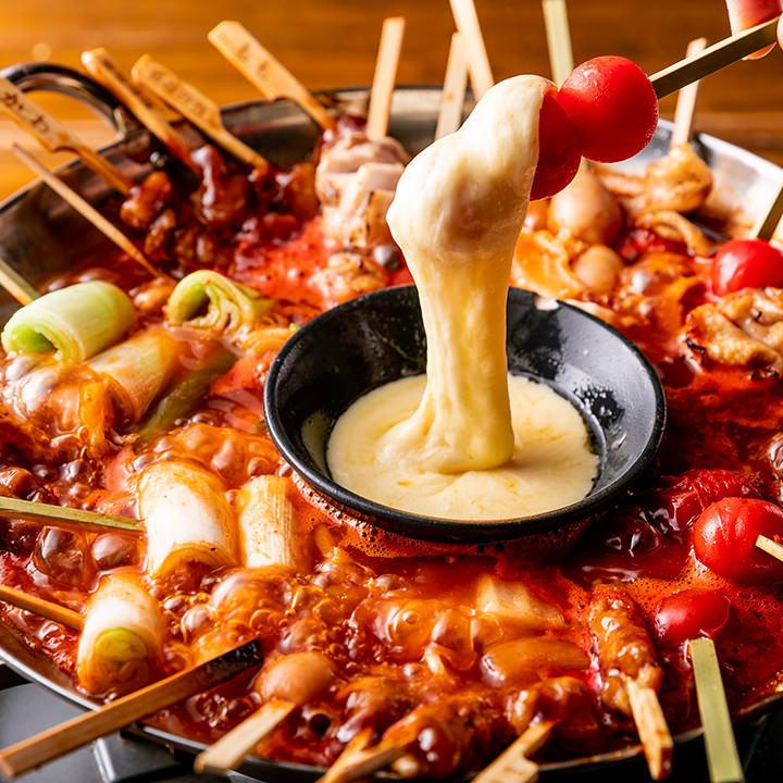 モッツァレラ手羽トマト鍋